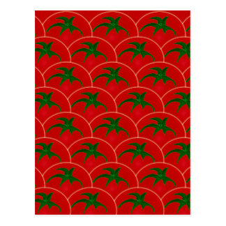 Red Tomatoes Pattern Wallpaper Postcard