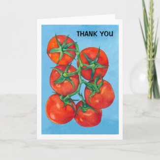 Red Tomatoes Thank You Card card