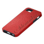 Red Tones Natural Leather Look iPhone 5 Cases
