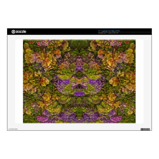 Red Tones Pretty Floral Dream Decal For Laptop