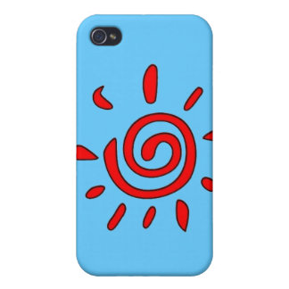RED TOO SUN SUNSHINE GRAPHIC VECTOR SYMBOL LOGO iPhone 4/4S COVER