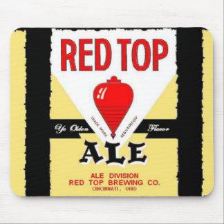 RED TOP ALE BEER CAN = CINCINNATI OHIO - MOUSEPAD