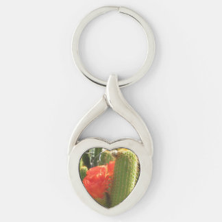 Red Torch Cactus Keychain