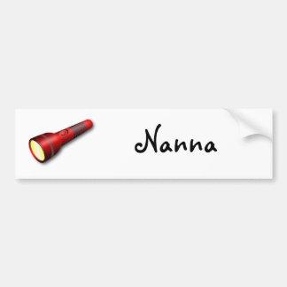 Red Torch Flashlight Bumper Sticker