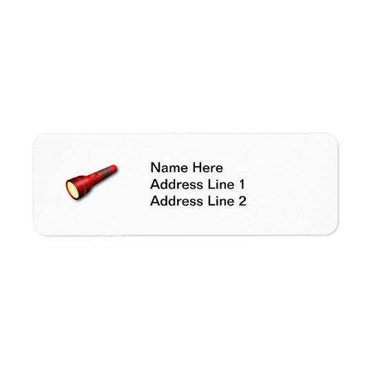 Red Torch Flashlight Label
