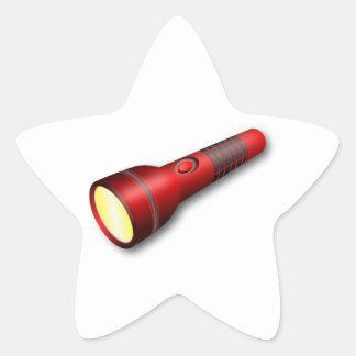 Red Torch Flashlight Sticker