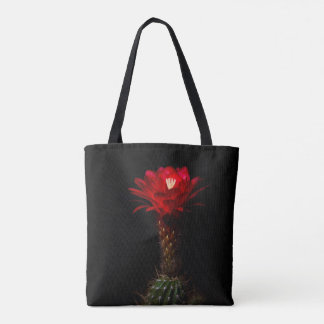 red torch in bloom tote bag