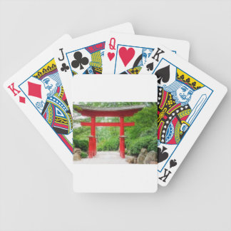 Red Torii Gate Bicycle Poker Deck