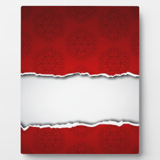 Red torn paper and patterns photo plaques