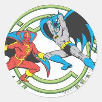 super, powers, collection, justice league heroes, justice, league, justice league logo, justice league, logo, hero, heroes, dc comics, comics, comic, comic book, comic book hero, comic hero, comic heroes, comic book heroes, dc comic book heroes, batman, bat man, the dark knight, superman, super man, green lantern, wonder woman, shazam, green arrow, hawk man, hawk woman, plastic man, firestorm, dr. fate, martian manhunter, red tornado, darkseid, aquaman, supergirl, the emerald warrior, Sticker with custom graphic design