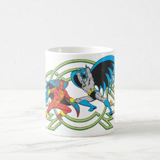 Red Tornado + Batman Coffee Mug