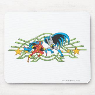 Red Tornado + Batman Mousepad