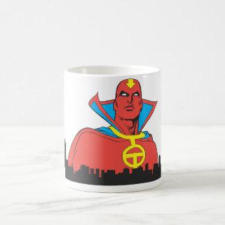 Red Tornado Behind Cityscape Coffee Mugs