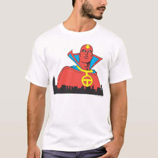 Red Tornado Behind Cityscape T-Shirt