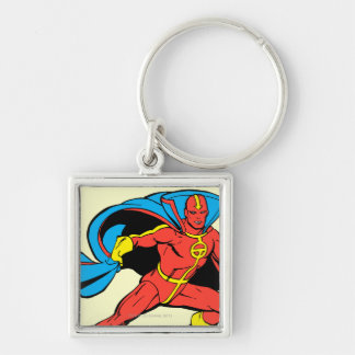Red Tornado Cape Pose Keychain