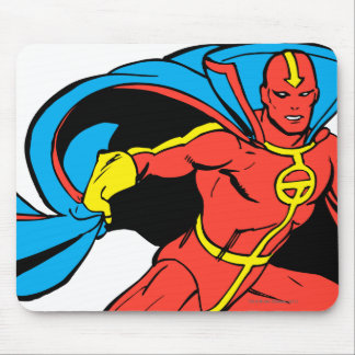 Red Tornado Cape Pose Mouse Pad