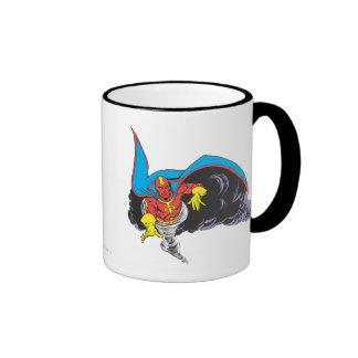 Red Tornado Emerges Ringer Coffee Mug