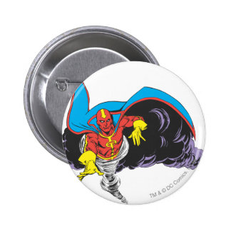 Red Tornado Emerges Pinback Buttons