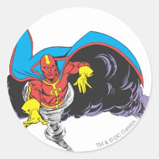 Red Tornado Emerges Sticker