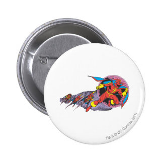 Red Tornado In Wind Motion Pinback Button