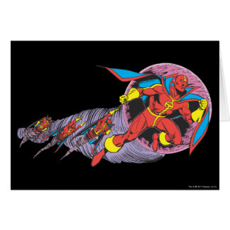 Red Tornado In Wind Motion Greeting Card