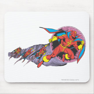 Red Tornado In Wind Motion Mouse Pad
