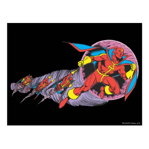 Red Tornado In Wind Motion Post Card