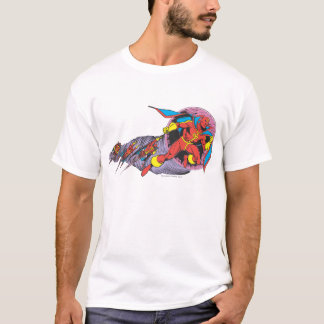 Red Tornado In Wind Motion T-Shirt