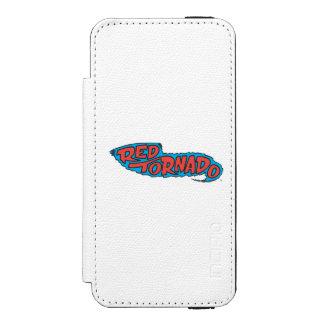 Red Tornado Logo Wallet Case For iPhone SE/5/5s
