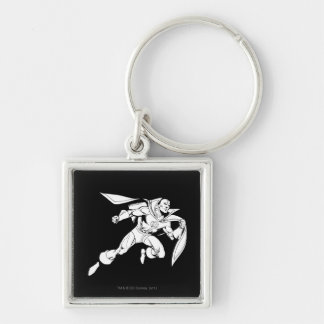Red Tornado Outline Keychain