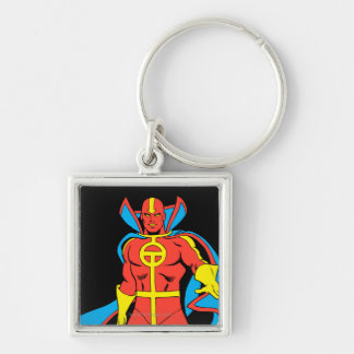 Red Tornado Pose Keychain