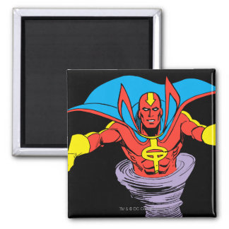 Red Tornado Twister 2 Inch Square Magnet