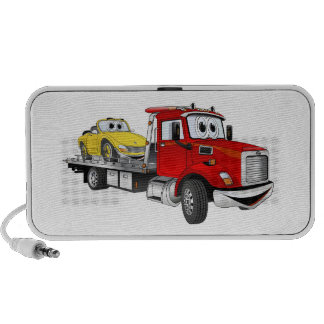 Red Tow Truck Flatbed Cartoon iPhone Speaker