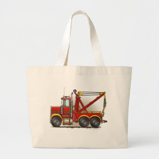 Red Tow Truck Wrecker Bags/Totes Large Tote Bag