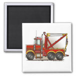 Red Tow Truck Wrecker Magnets