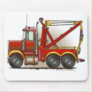 Red Tow Truck Wrecker Mouse Pad