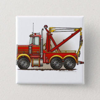 Red Tow Truck Wrecker Pins