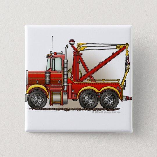 Red Tow Truck Wrecker Pins