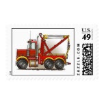 Red Tow Truck Wrecker Stamps