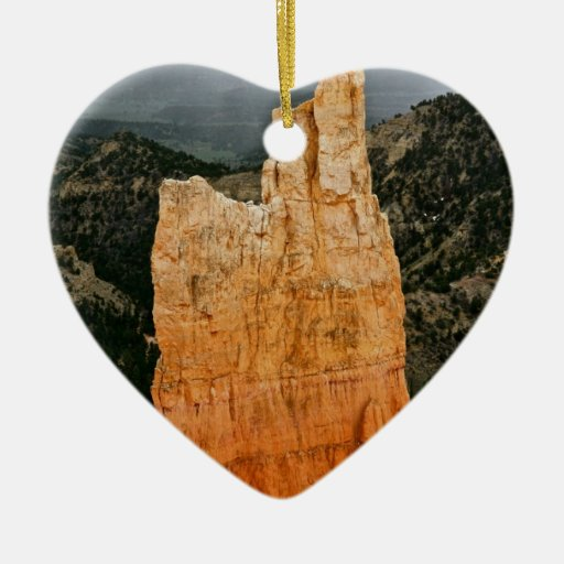 RED TOWER IN BRYCE NATIONAL PARK CHRISTMAS ORNAMENTS