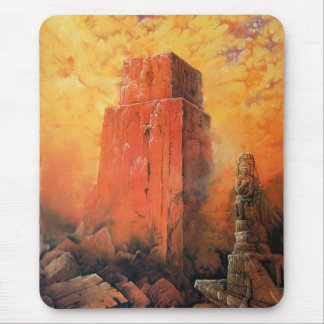 Red Tower Mouse Pad