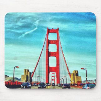 Red tower of Golden Gate Bridge Mouse Pad