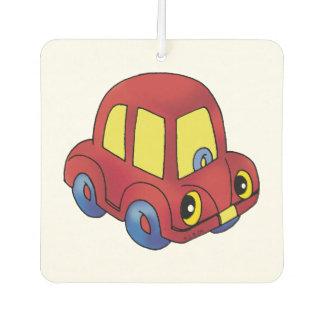 red toy car air freshener