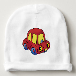 red toy car baby beanie