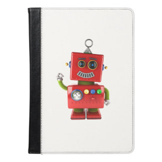 Red toy robot waving hello iPad air case