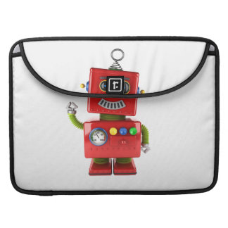 Red toy robot waving hello MacBook pro sleeves