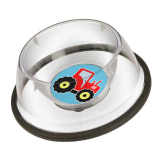 Red toy tractor bowl