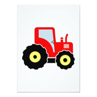 Red toy tractor card