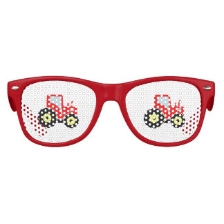Red toy tractor kids sunglasses
