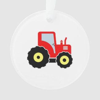 Red toy tractor ornament